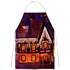 House In Winter Decoration Full Print Aprons