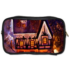 House In Winter Decoration Toiletries Bags