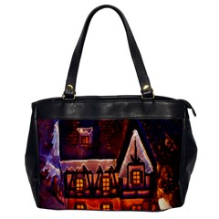 House In Winter Decoration Office Handbags