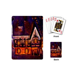 House In Winter Decoration Playing Cards (mini)