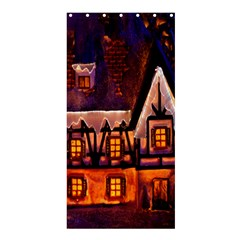 House In Winter Decoration Shower Curtain 36  X 72  (stall)
