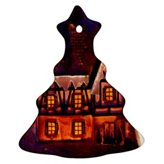 House In Winter Decoration Ornament (Christmas Tree)
