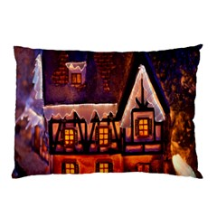 House In Winter Decoration Pillow Case (two Sides)