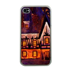 House In Winter Decoration Apple iPhone 4 Case (Clear)