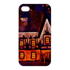 House In Winter Decoration Apple iPhone 4/4S Hardshell Case