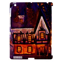House In Winter Decoration Apple iPad 3/4 Hardshell Case (Compatible with Smart Cover)