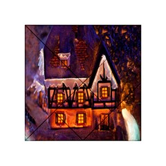 House In Winter Decoration Acrylic Tangram Puzzle (4  x 4 )