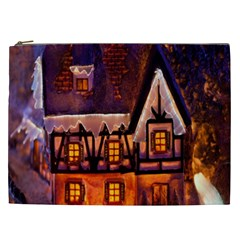 House In Winter Decoration Cosmetic Bag (XXL)