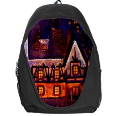 House In Winter Decoration Backpack Bag