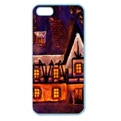 House In Winter Decoration Apple Seamless iPhone 5 Case (Color)