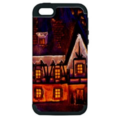House In Winter Decoration Apple iPhone 5 Hardshell Case (PC+Silicone)