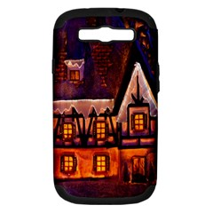 House In Winter Decoration Samsung Galaxy S III Hardshell Case (PC+Silicone)