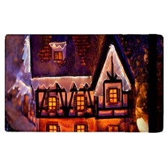 House In Winter Decoration Apple iPad 3/4 Flip Case