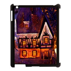 House In Winter Decoration Apple Ipad 3/4 Case (black)