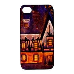 House In Winter Decoration Apple Iphone 4/4s Hardshell Case With Stand