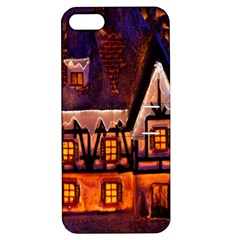 House In Winter Decoration Apple Iphone 5 Hardshell Case With Stand