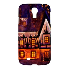 House In Winter Decoration Samsung Galaxy S4 I9500/i9505 Hardshell Case