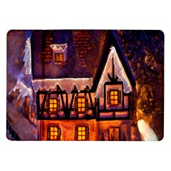House In Winter Decoration Samsung Galaxy Tab 10 1  P7500 Flip Case
