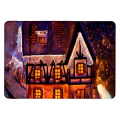 House In Winter Decoration Samsung Galaxy Tab 8.9  P7300 Flip Case