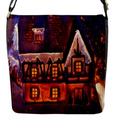 House In Winter Decoration Flap Messenger Bag (S)