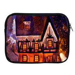 House In Winter Decoration Apple iPad 2/3/4 Zipper Cases