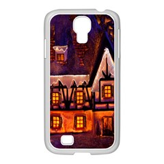 House In Winter Decoration Samsung Galaxy S4 I9500/ I9505 Case (white)