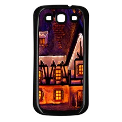 House In Winter Decoration Samsung Galaxy S3 Back Case (black)