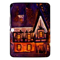 House In Winter Decoration Samsung Galaxy Tab 3 (10.1 ) P5200 Hardshell Case