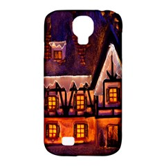 House In Winter Decoration Samsung Galaxy S4 Classic Hardshell Case (PC+Silicone)