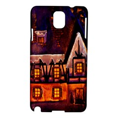 House In Winter Decoration Samsung Galaxy Note 3 N9005 Hardshell Case