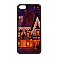 House In Winter Decoration Apple iPhone 5C Seamless Case (Black)