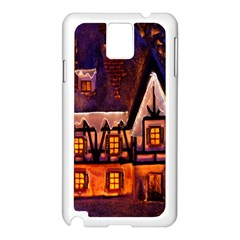 House In Winter Decoration Samsung Galaxy Note 3 N9005 Case (White)