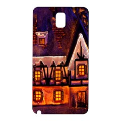 House In Winter Decoration Samsung Galaxy Note 3 N9005 Hardshell Back Case