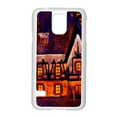 House In Winter Decoration Samsung Galaxy S5 Case (White)