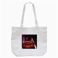 House In Winter Decoration Tote Bag (White)