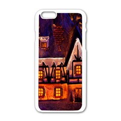 House In Winter Decoration Apple Iphone 6/6s White Enamel Case