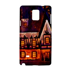 House In Winter Decoration Samsung Galaxy Note 4 Hardshell Case