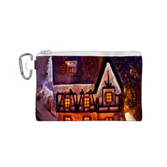House In Winter Decoration Canvas Cosmetic Bag (s)