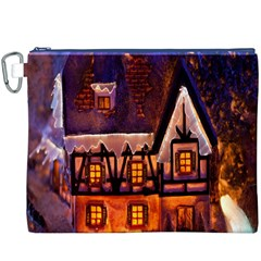 House In Winter Decoration Canvas Cosmetic Bag (XXXL)