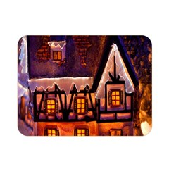 House In Winter Decoration Double Sided Flano Blanket (Mini)