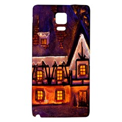 House In Winter Decoration Galaxy Note 4 Back Case