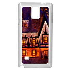 House In Winter Decoration Samsung Galaxy Note 4 Case (white)