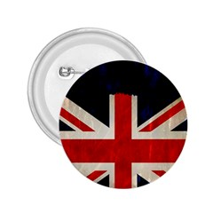 Flag Of Britain Grunge Union Jack Flag Background 2.25  Buttons