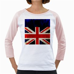 Flag Of Britain Grunge Union Jack Flag Background Girly Raglans