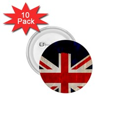 Flag Of Britain Grunge Union Jack Flag Background 1.75  Buttons (10 pack)