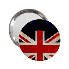 Flag Of Britain Grunge Union Jack Flag Background 2 25  Handbag Mirrors