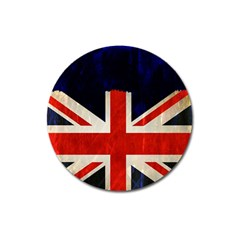 Flag Of Britain Grunge Union Jack Flag Background Magnet 3  (round)