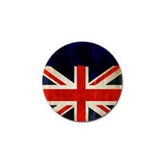 Flag Of Britain Grunge Union Jack Flag Background Golf Ball Marker