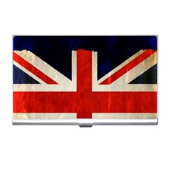 Flag Of Britain Grunge Union Jack Flag Background Business Card Holders