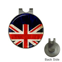 Flag Of Britain Grunge Union Jack Flag Background Hat Clips with Golf Markers